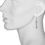 earrings bone glitter bead model