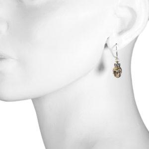 earrings skull crown b model