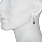 earrings skull silver model