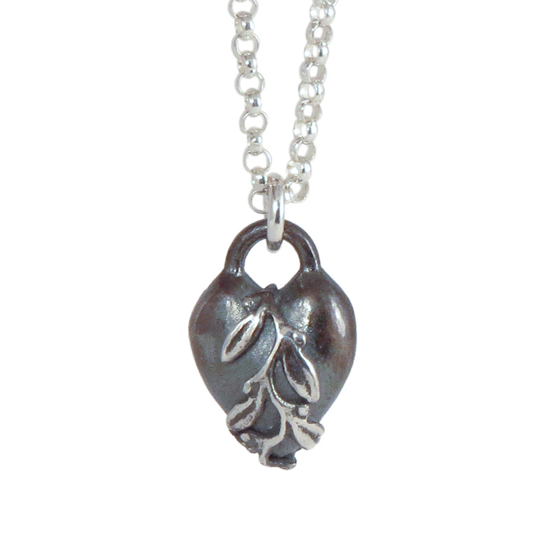 heart leaves patinated