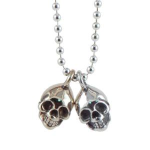 skull silver bronze close