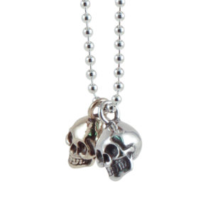 skull silver bronze side