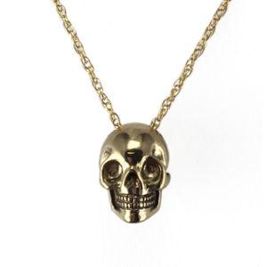 Necklace bronze skull