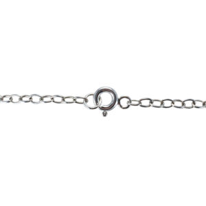 sterling silver spring ring clasp cable chain