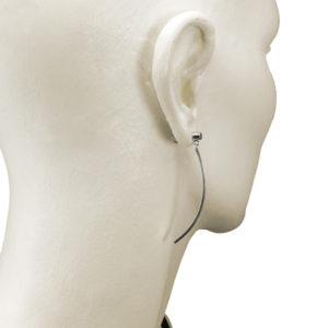 sterling silver curve bar earrings