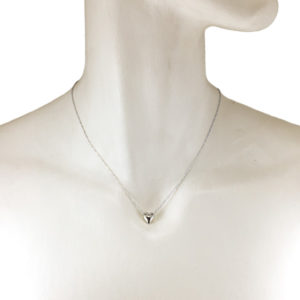 sterling silver heart with holes necklace