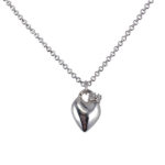 sterling silver heart with crown