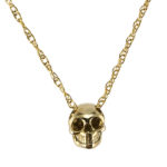 jewelry bronze skull necklace