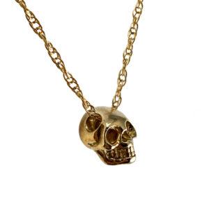 jewelry bronze skull necklace