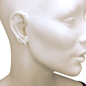 Silver slim bar earrings