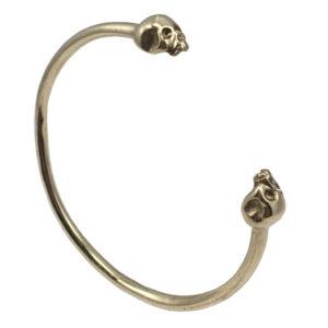 bronze half skull bangle