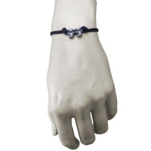double skull and bone bracelet