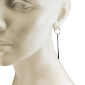 silver hoops with rods