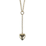 heart drop bronze necklace