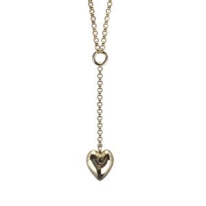 heart drop bronze necklace