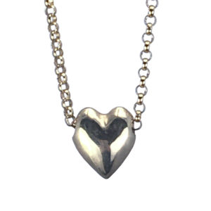 simple bronze heart necklace
