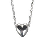 simple silver heart necklace