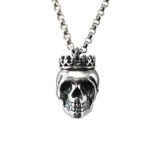 silver skull crown medium