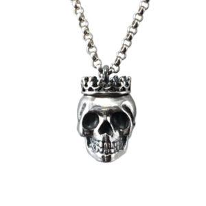 silver skull crown medium